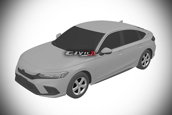 A picture of the 2021 Honda Civic patent image.