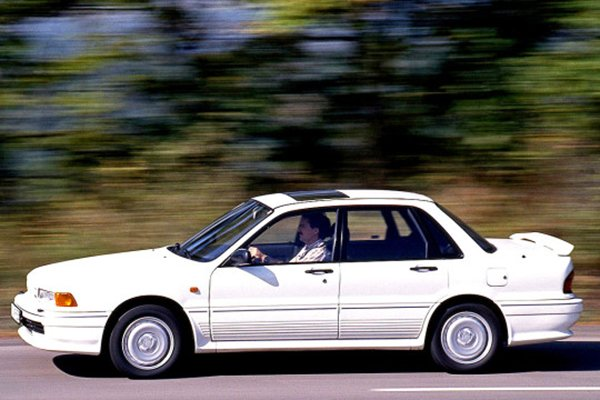A picture of the Galant GTI on the road.