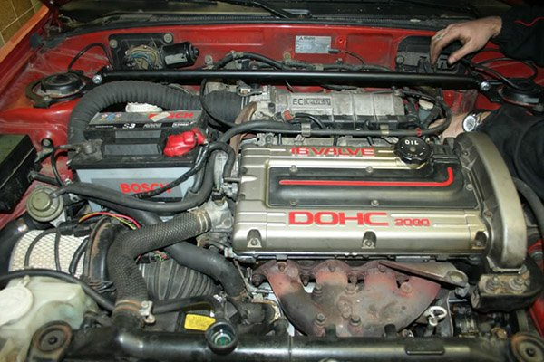 A picture of the Galant's 4G63 engine