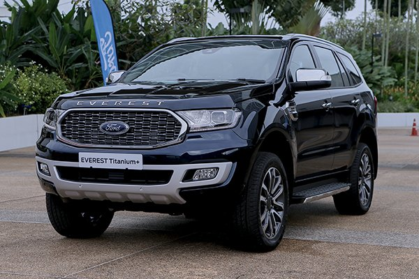 A picture of the 2021 Ford Everest Titanium+