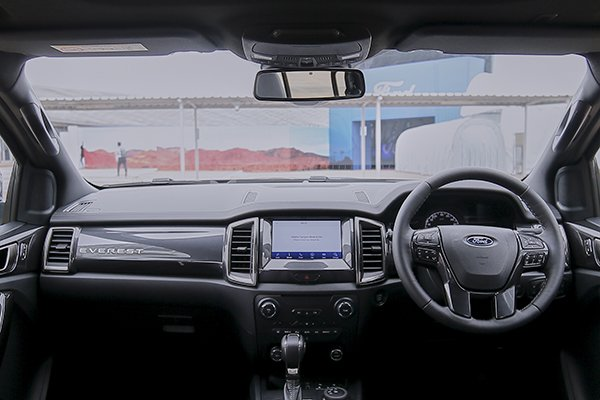A picture of the interior of the 2021 Ford Everest