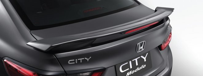 A picture of the 2021 City's sleek Modulo rear spoiler