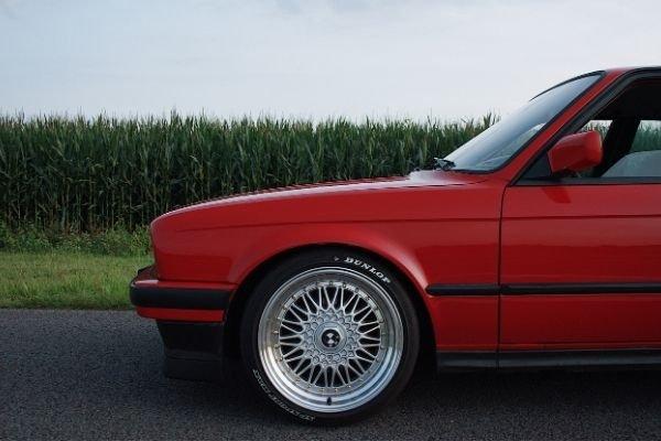An alloy wheel of a BMW