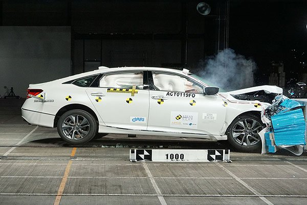 A picture of the Honda Accord crash test
