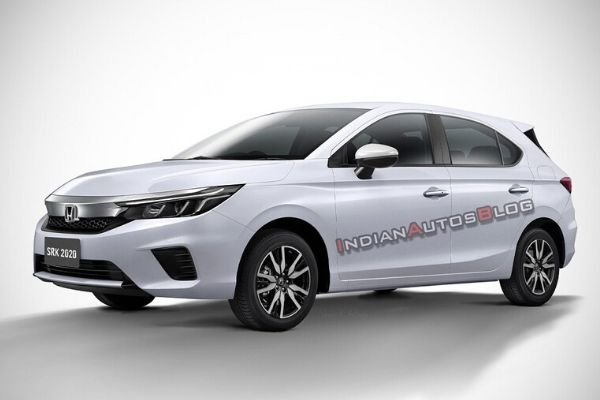 A picture of a rendering of the Honda City hatch