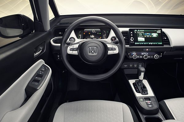 A picture of the interior of the 4th-gen Jazz/Fit