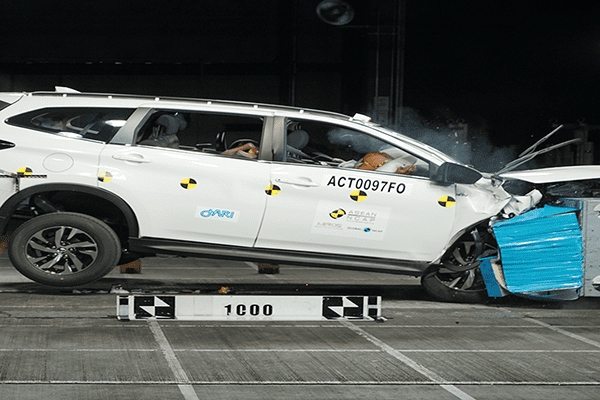 Frontal impact test for the Toyota Rush