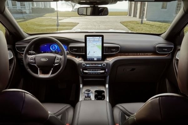 Interior view of the Ford Explorer
