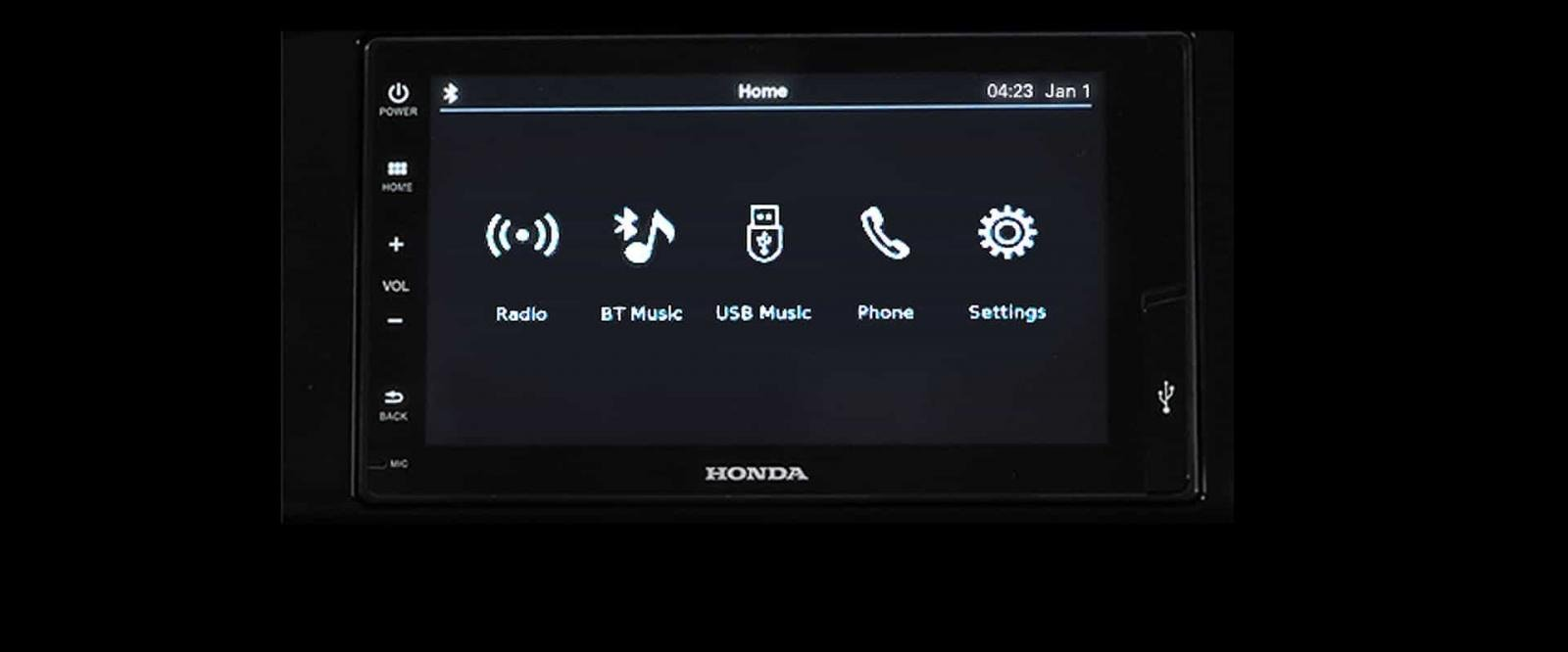 Honda Brio infotainment screen