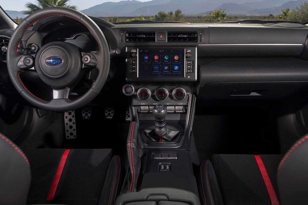 A picture of the interior of the Subaru BRZ