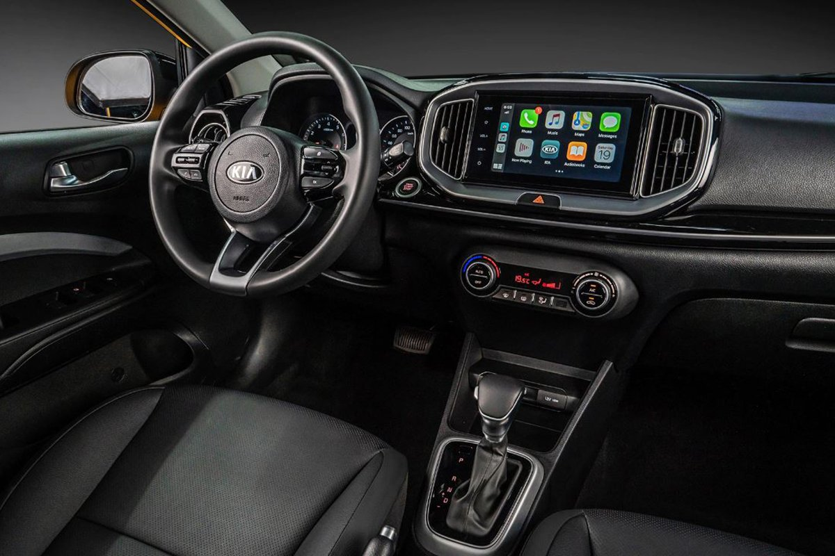 A picture of the cockpit of the Kia Stonic