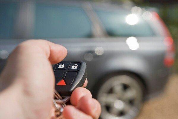 Using a key fob on a car