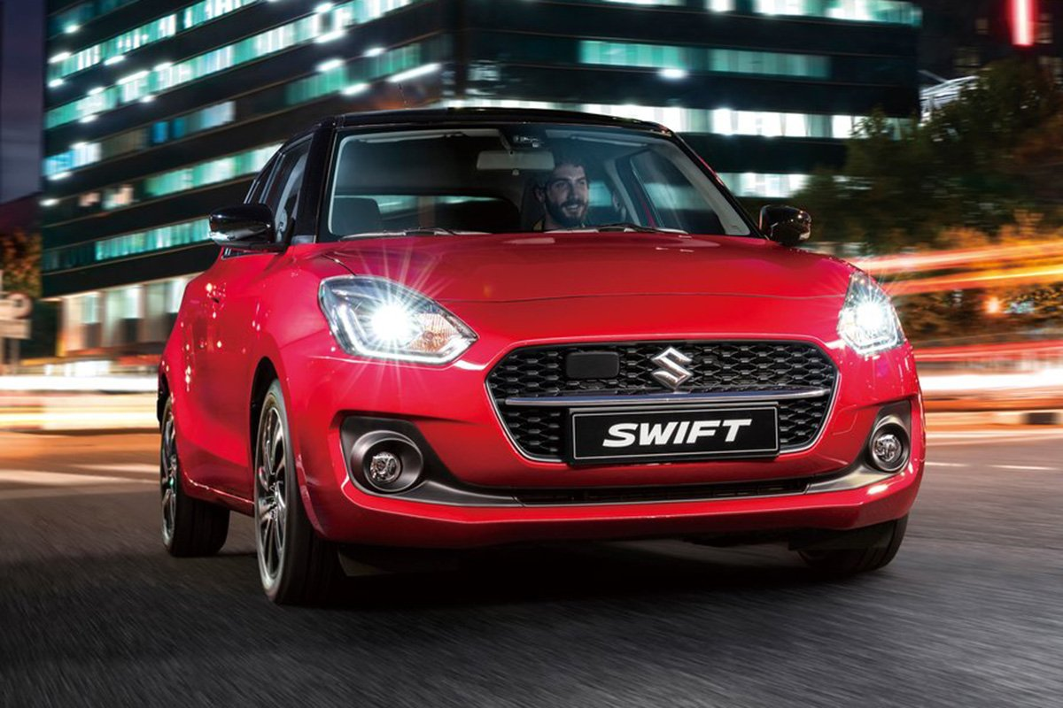 A picture of the front of the JDM Swift