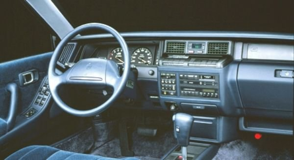 Interior of the Toyota Crown Royal Saloon