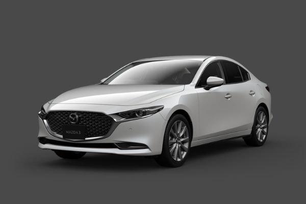 White Mazda3 front view