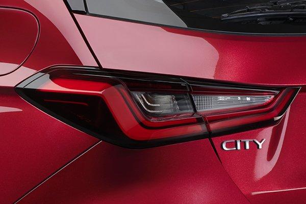 The Honda City Hatchback RS Turbo's tail lights
