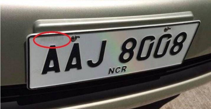 License plate with barcode