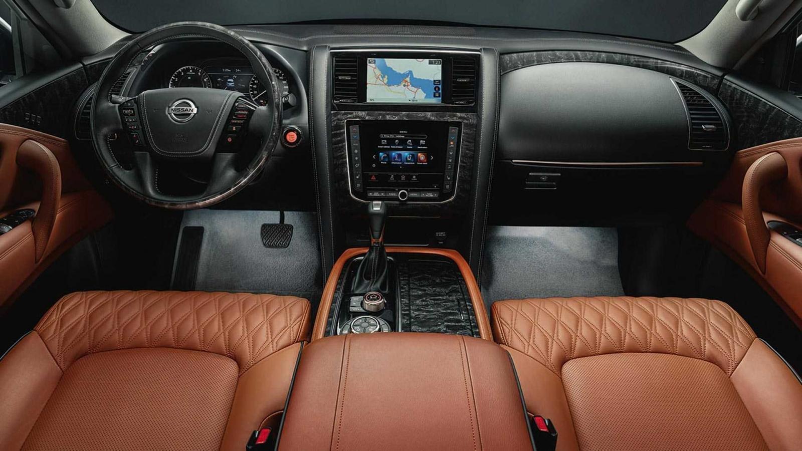 2021 Nissan Patrol interior view