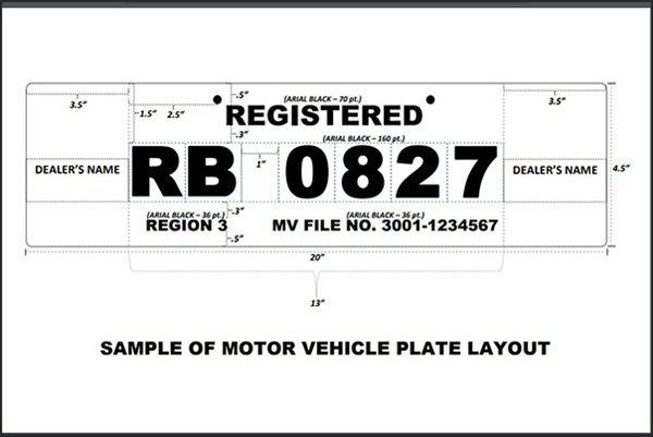 LTO Temporary plate layout
