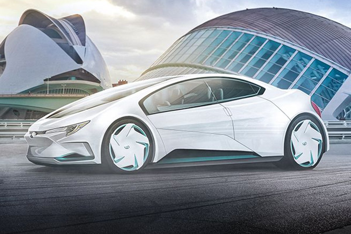 A picture of the 2050 Corolla concept