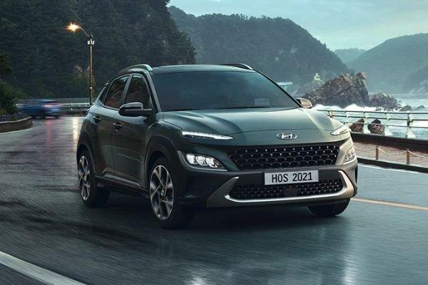 New Hyundai Kona facelift front view