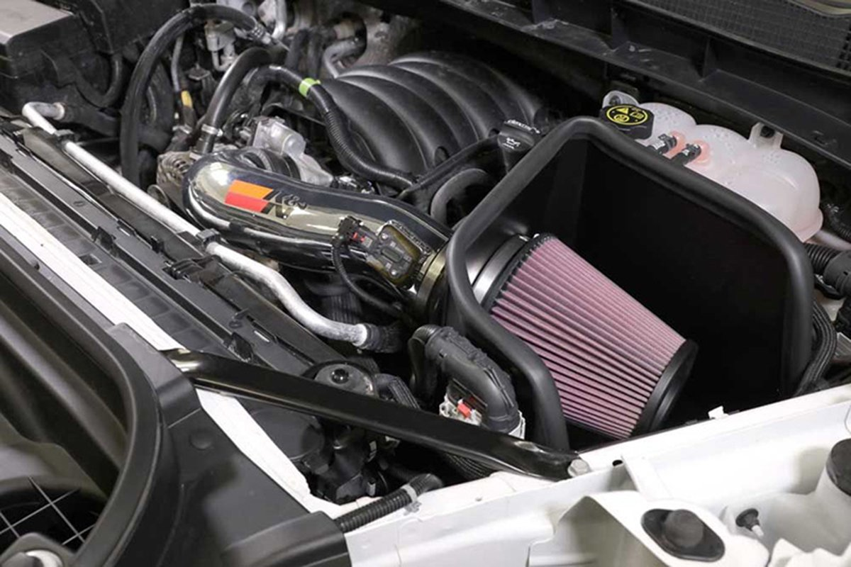 A picture of a KandN cold air intake
