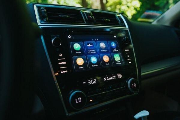 A car's infotainment screen