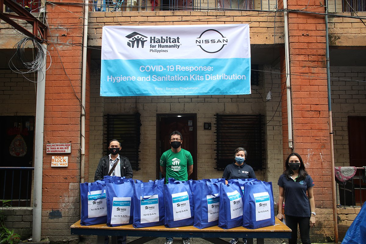 Hygiene and Sanitation kits donated by Nissan and HFH