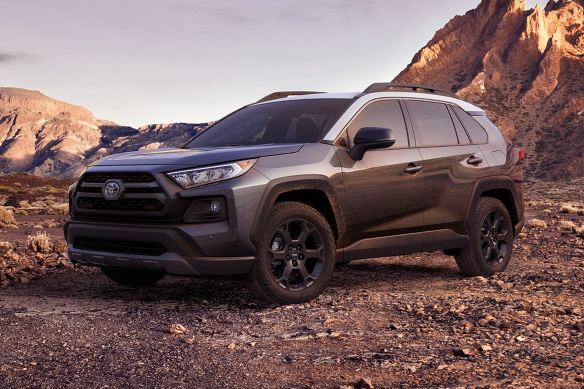A picture of the US RAV4 with the TRD Pro package