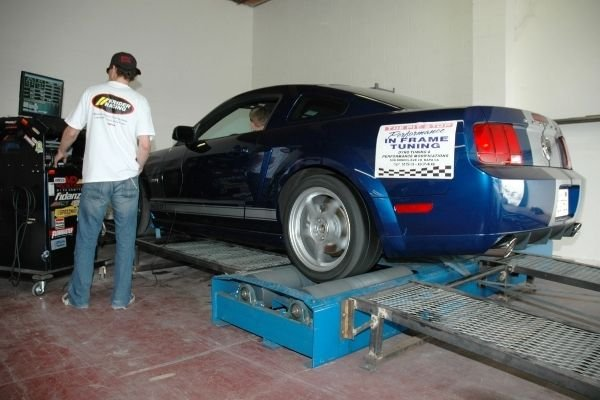 Mustang on a dyno