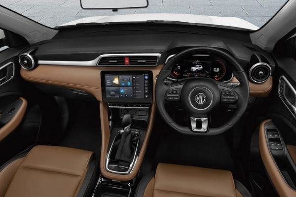 Interior view of 2021 MG ZS