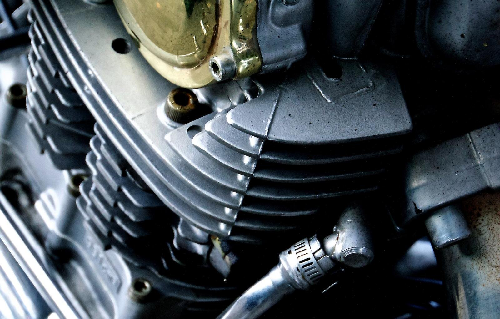 A motorcycle engine