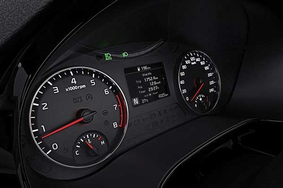 The instrument cluster of the 2020 Kia Seltos