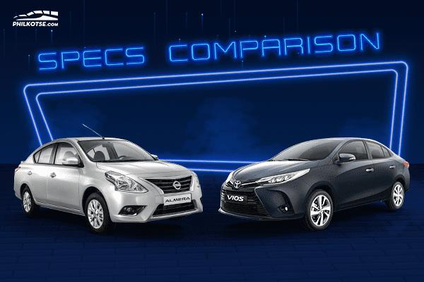 A picture of the Toyota Vios vs Nissan Almera head to head