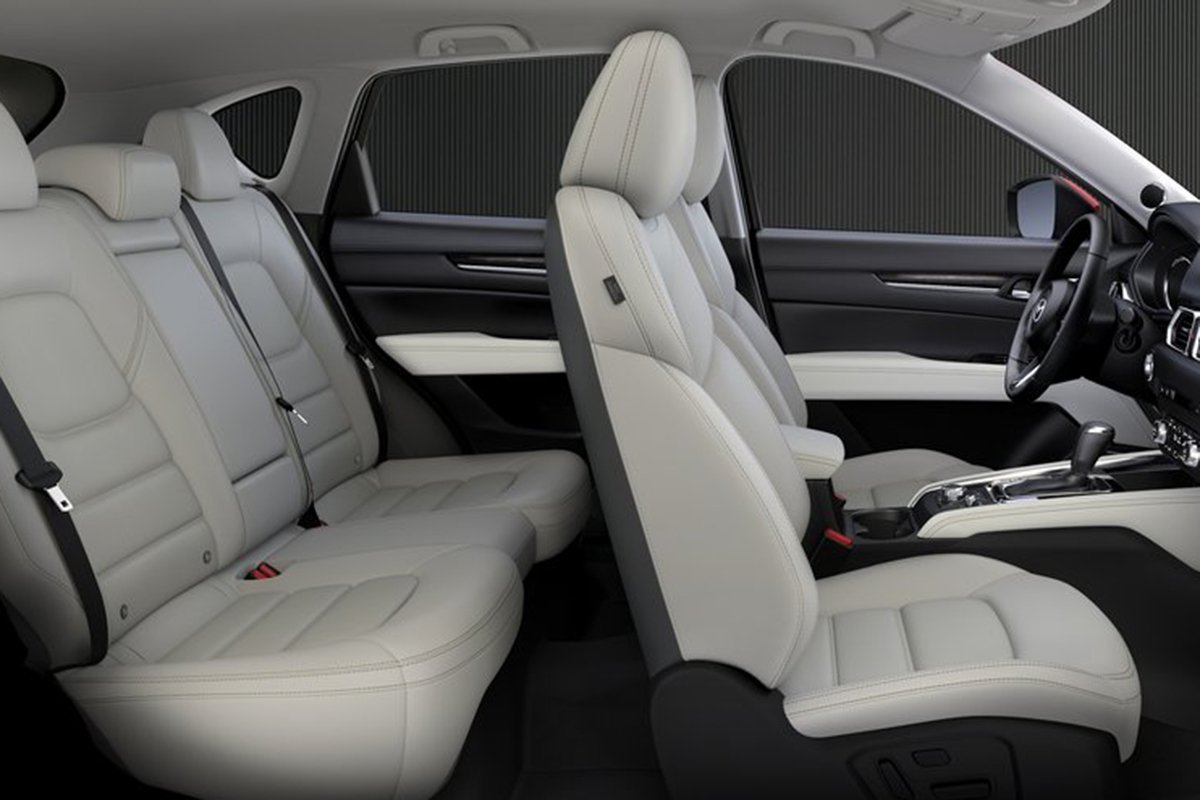 A picture of the interior of the CX-5 with the rear seats