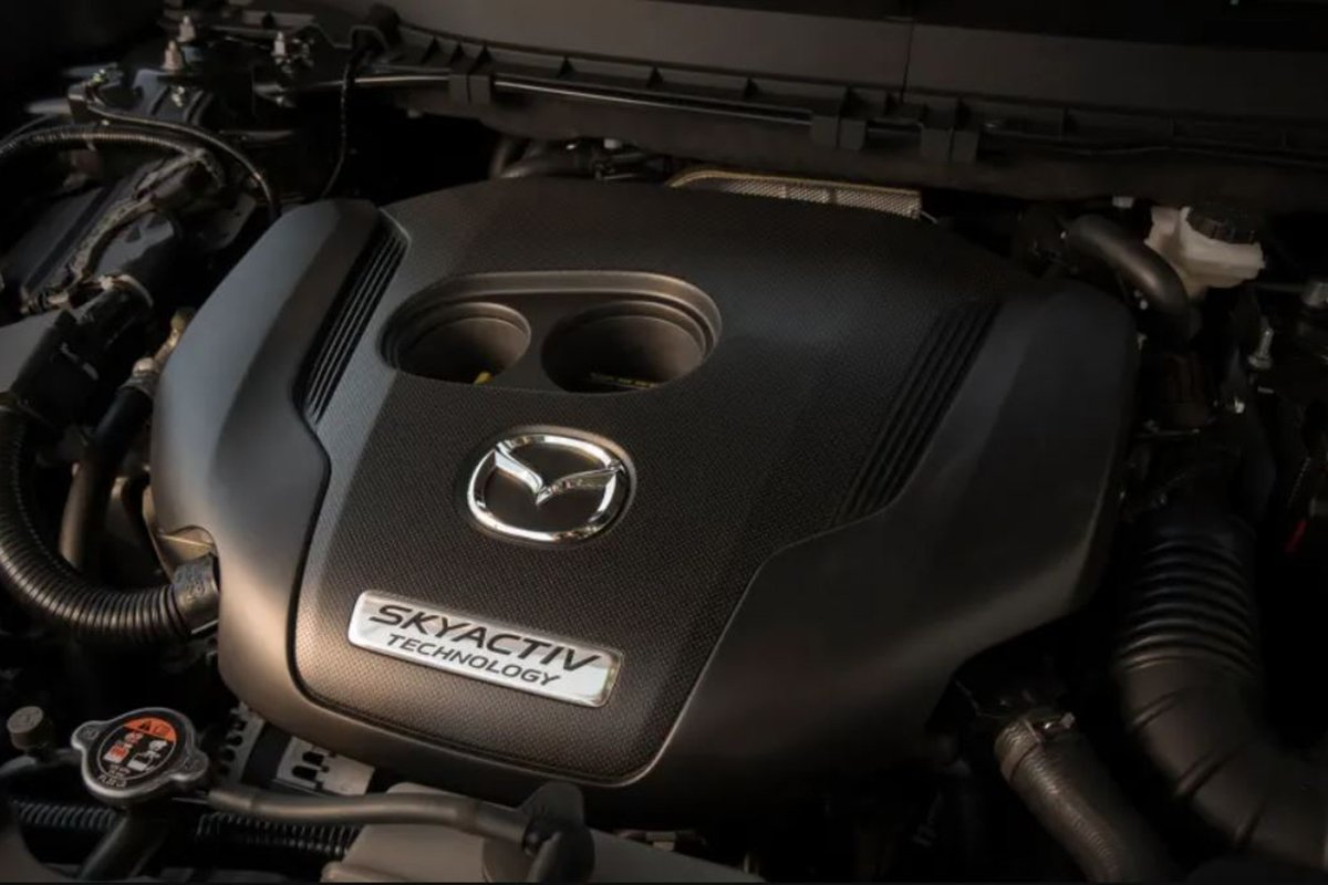 A picture of the CX-5 Turbo's engine