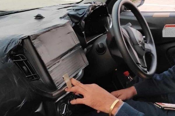 Camouflaged interior feature of Indian-spec Suzuki Celerio