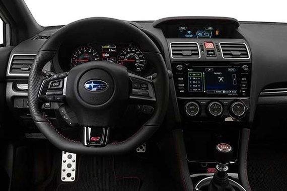 Interior view of the Subaru WRX STI