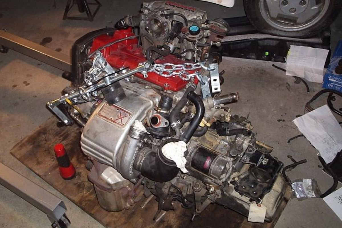 A picture of a 3S-GTE engine