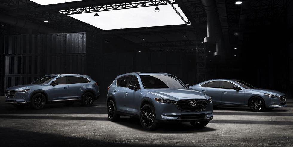 Mazda models in Carbon Edition