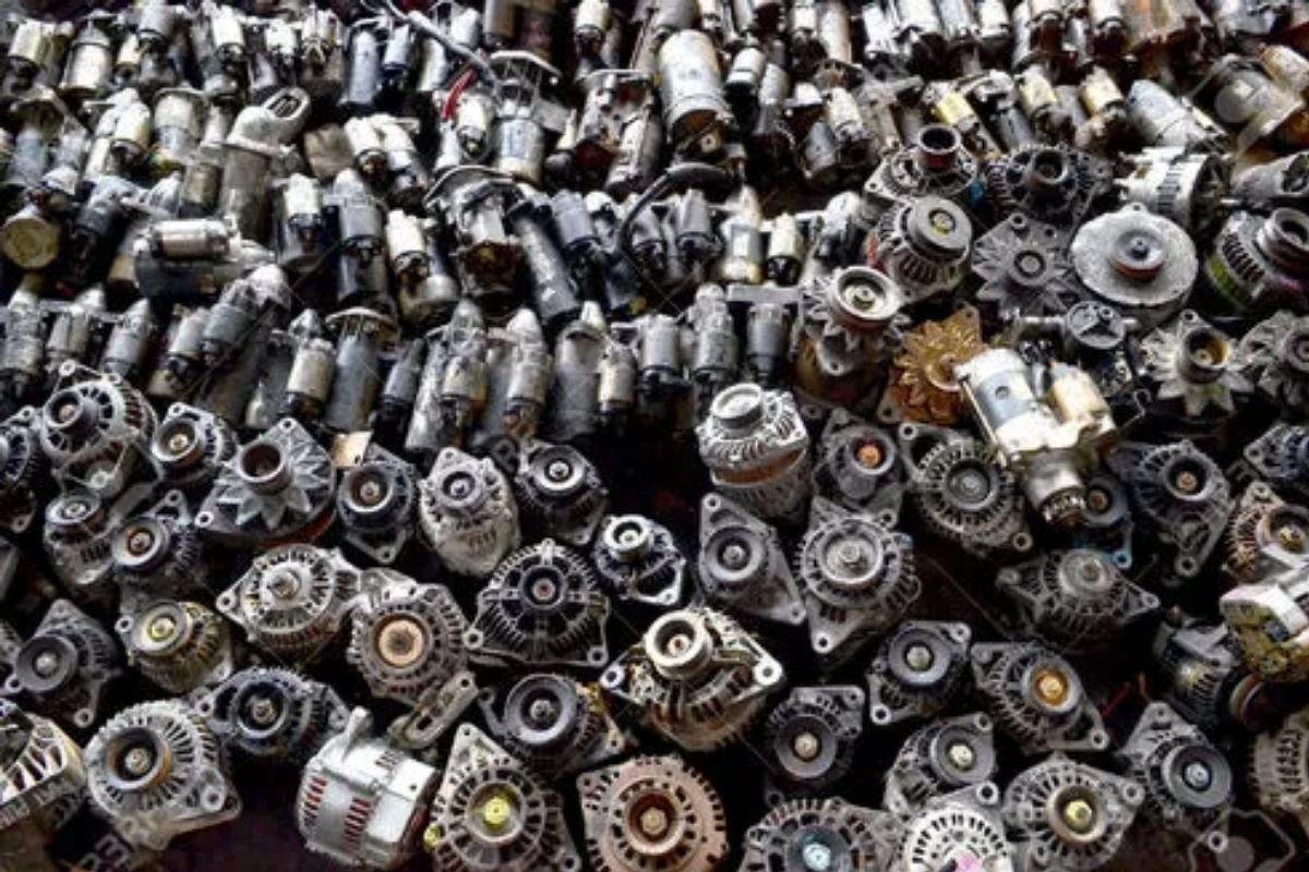 A picture of a pile of alternators