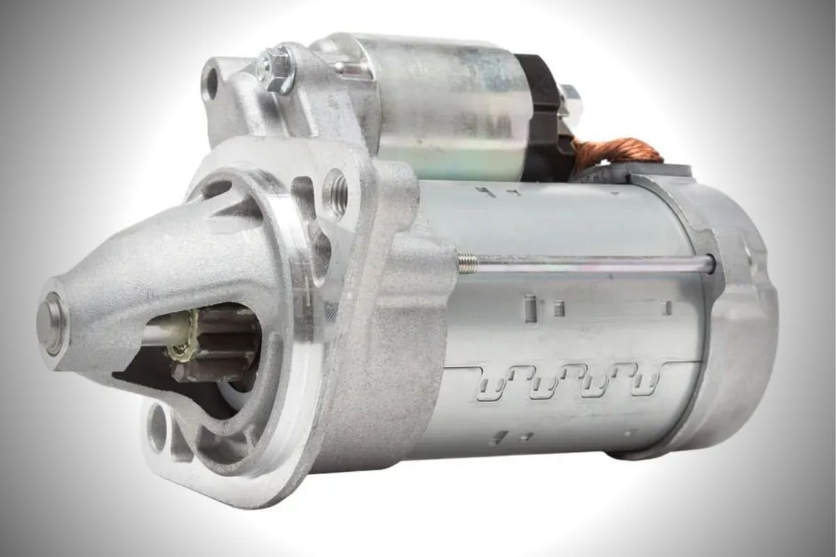 A picture of a car's starter.