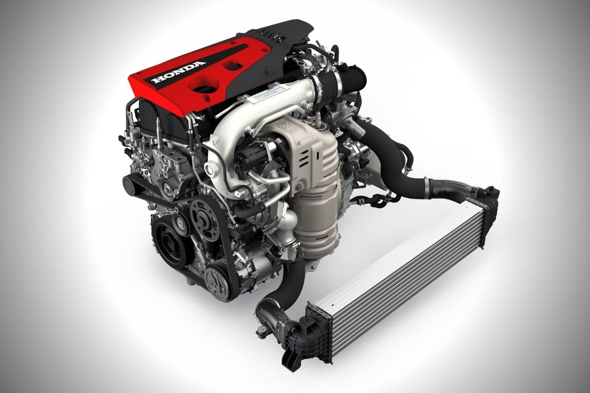 A picture of the Civic Type R's engine