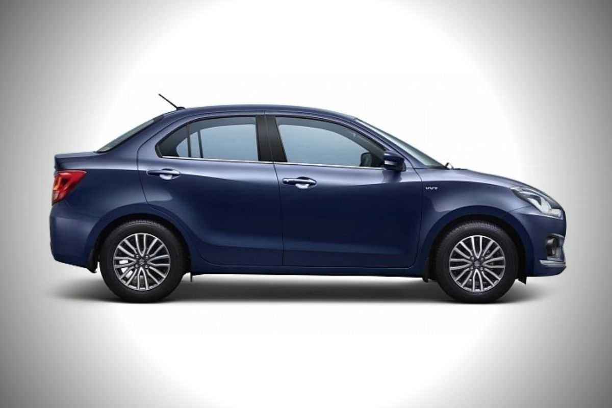 A picture of the side of the Suzuki Dzire