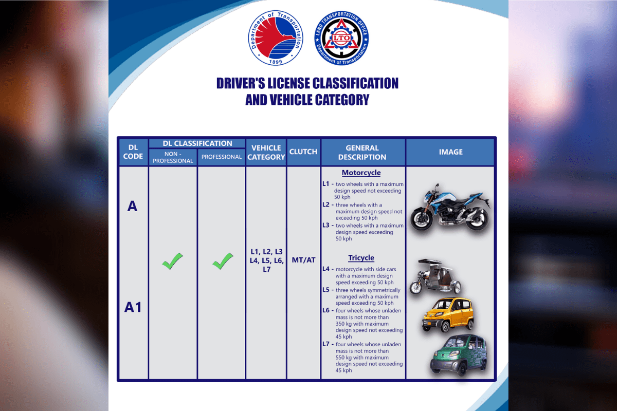 LTO new driver's license restriction codes