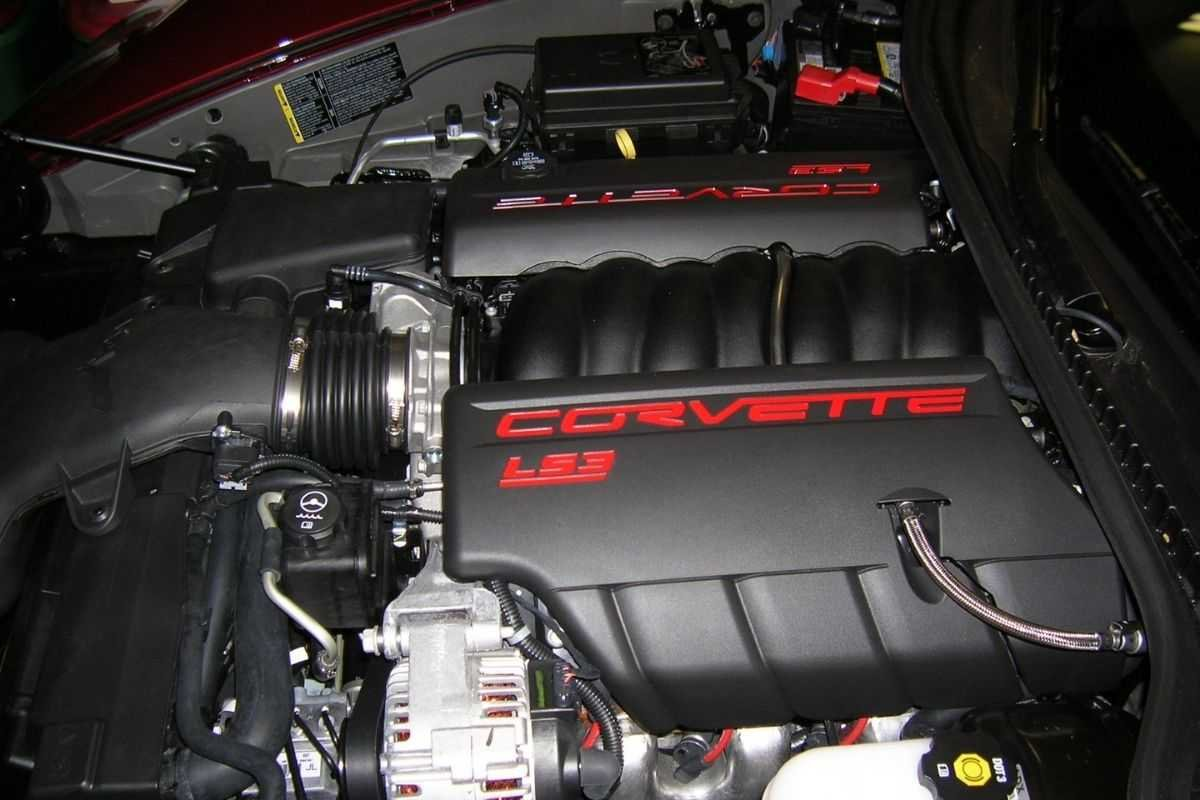 A picture of the LS3 on a Corvette C5