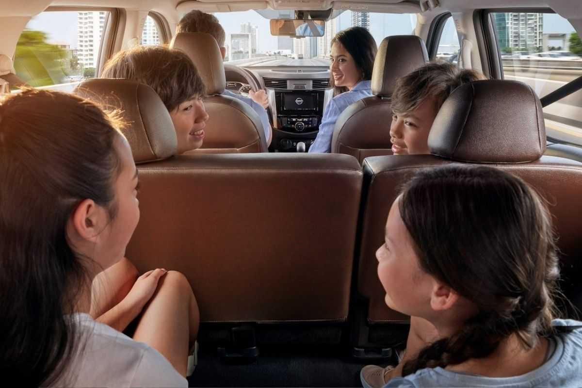 A picture of the interior of the seven-seater Nissan Terra