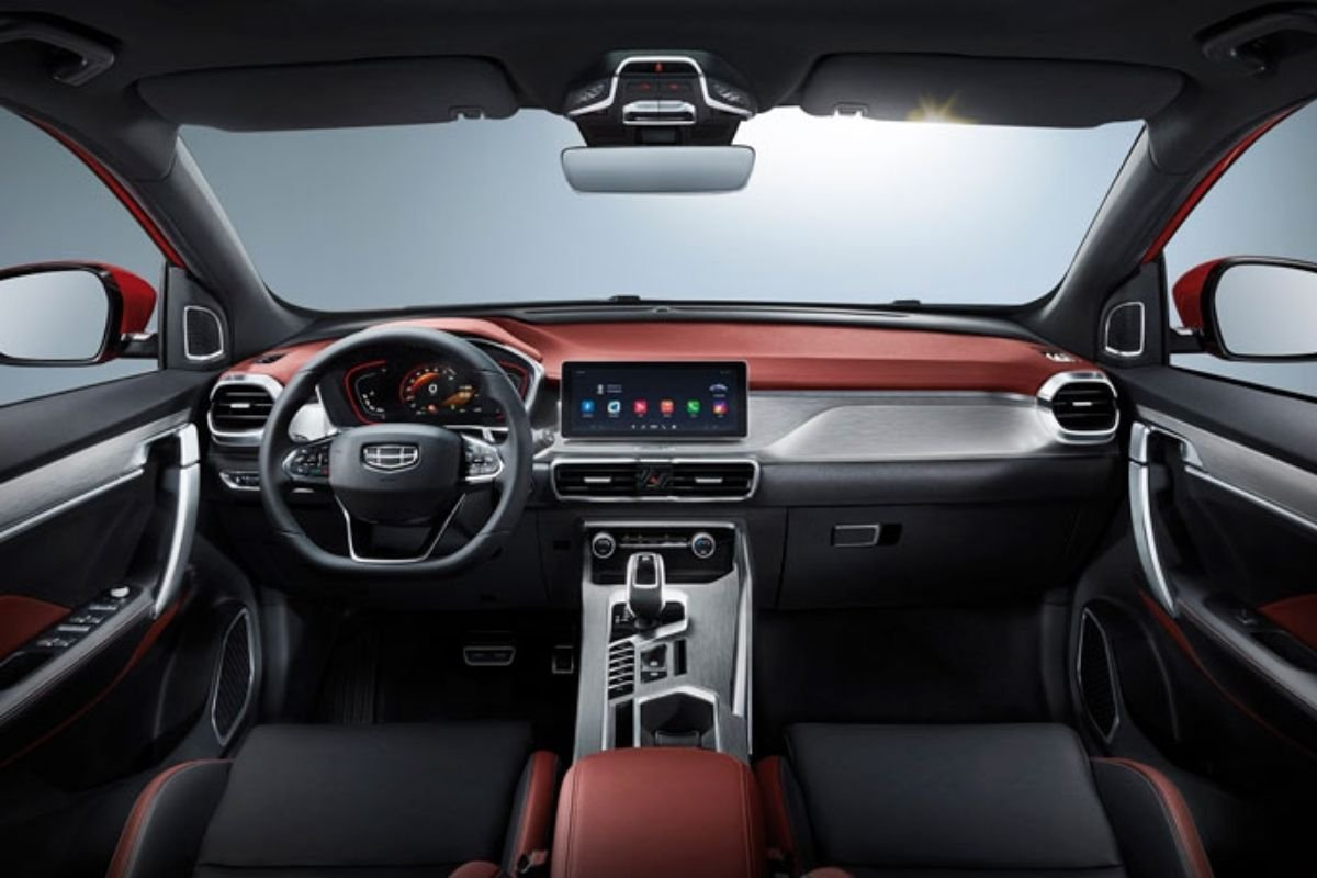 A picture of the interior of the Geely Coolray