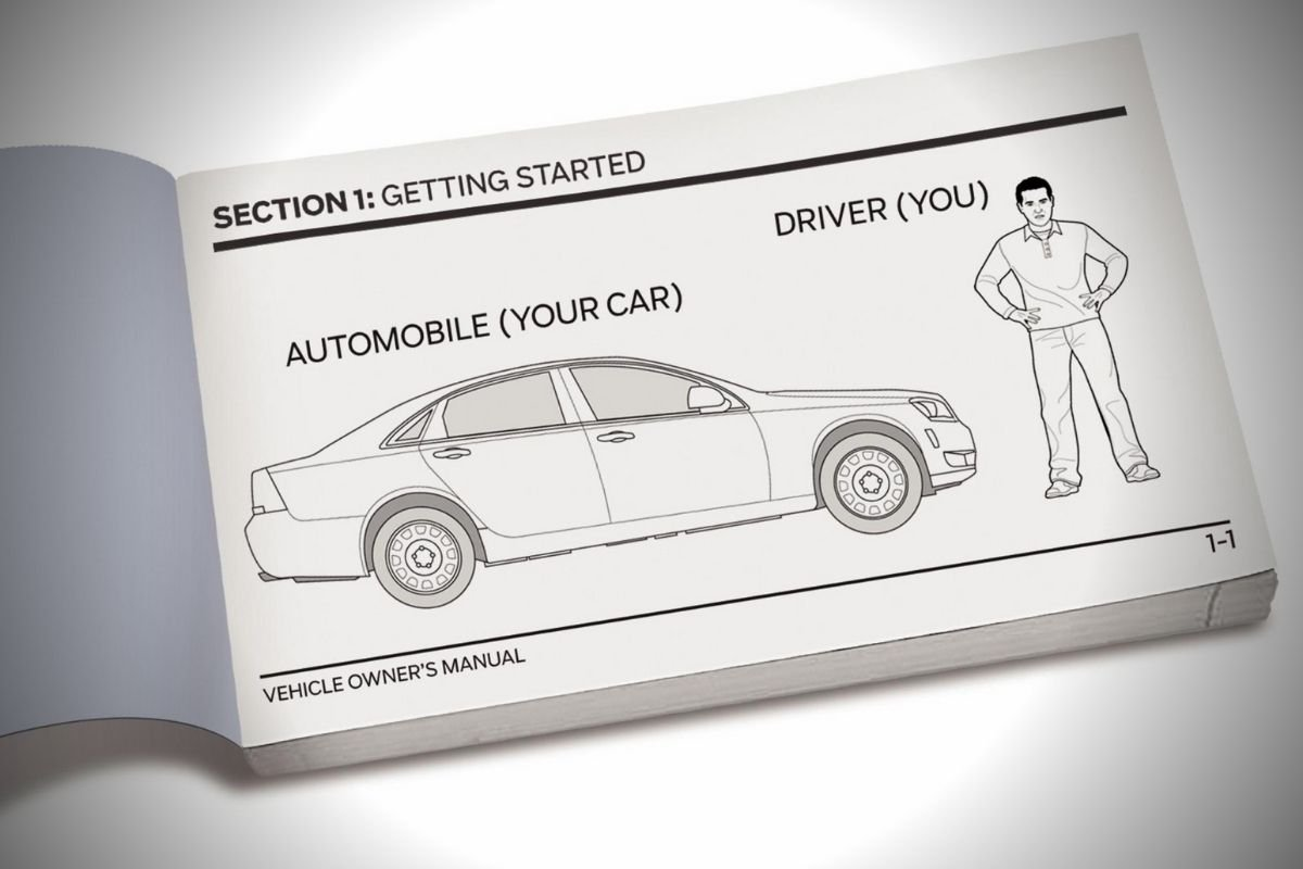 A picture of a car manual