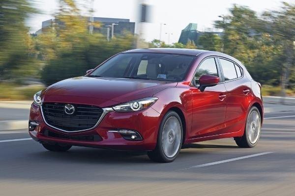 2017 Mazda3 sedan front shot